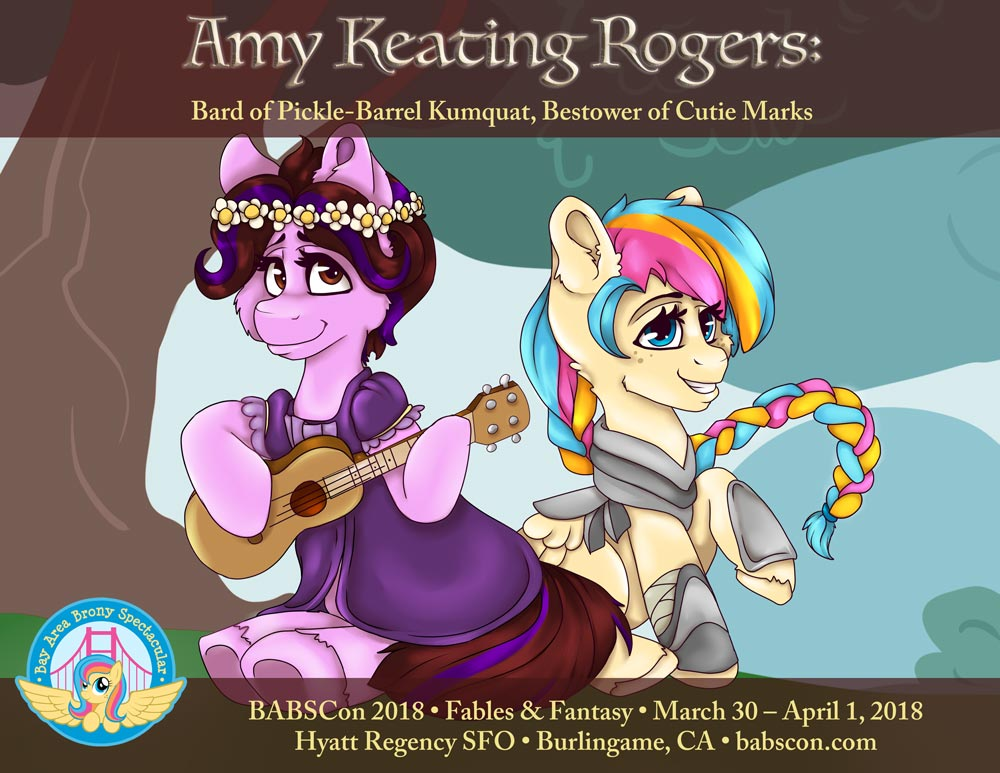 Amy Keating Rogers Gives BABSCon its Cutie Mark this March!