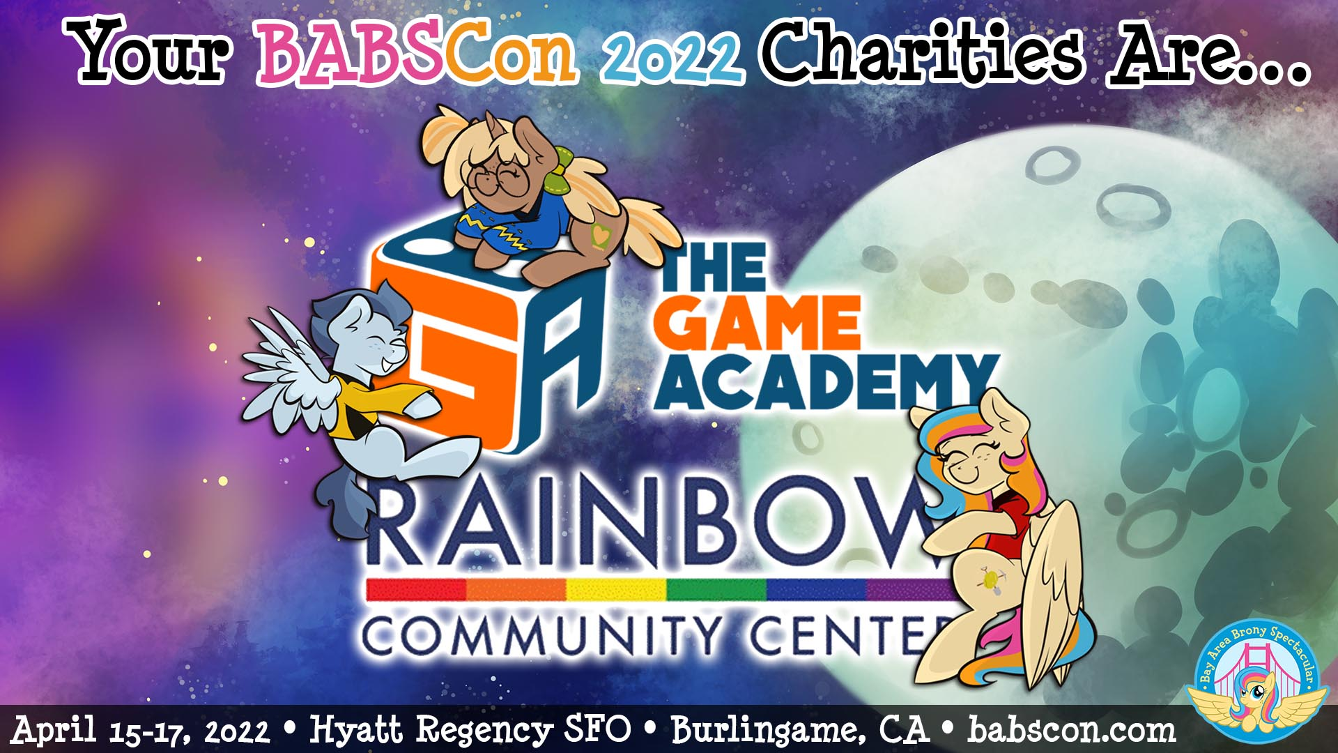 Our 2020 Charities: The Game Academy and The Rainbow Center of Contra Costa County